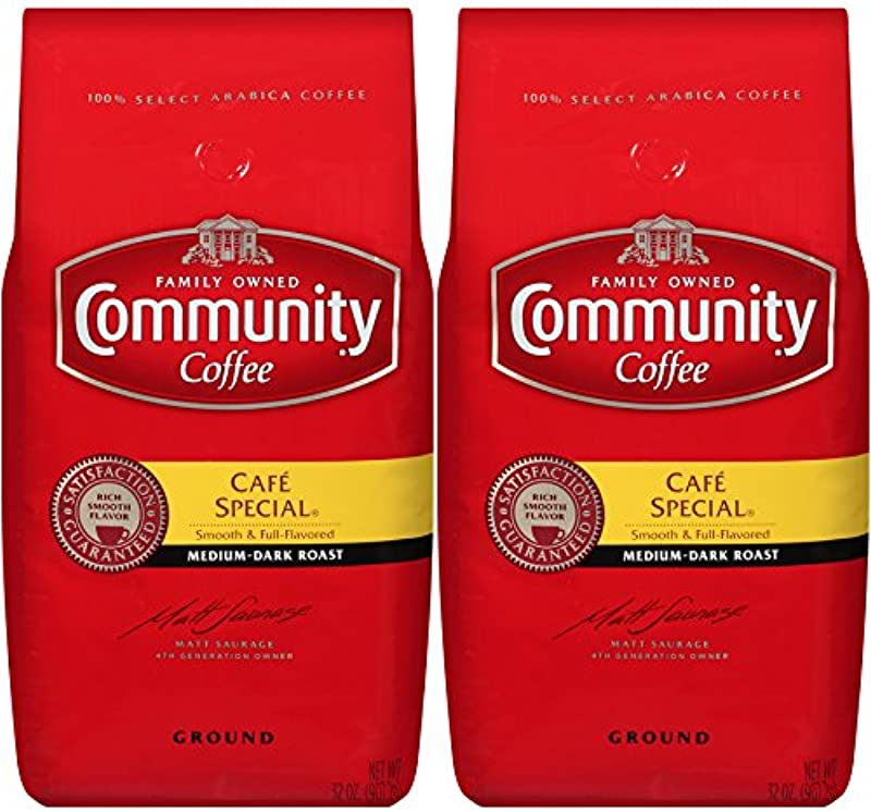 Community Coffee Ground Coffee Cafe Special 32 Ounce Bags Pack Of 2