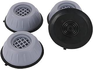 JAWSEU 4 st tvättmaskinens fotdynor, universellt vibrationsskydd, halkfri anti-vibration öka gummifötter mattor tysta för ...