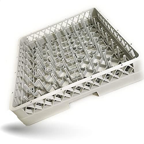 Gastronette Spülkorb Korb 64 Finger Teller Gläser Tassen Tabletts für die Gastronomie Spülmaschine Spülmaschinenkorb Universal aus...