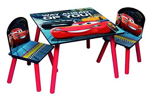 Disney Cars 3 85873-S Tischset + 2 Stühle, MDF, Rot/Grau, Einheitsgröße