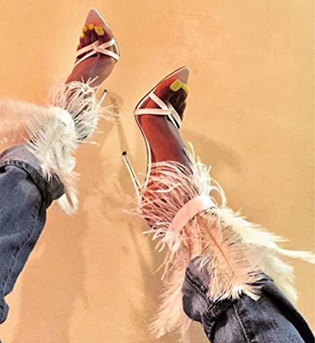 Frauen-Knöchel-Stiefel, Party Ankle Boots Herbst-Winter-beiläufige Damen Schuhe Stiefel Womens Mitte Kalb Spitze REIT beiläufige Aufladungen Schuhe,White,43