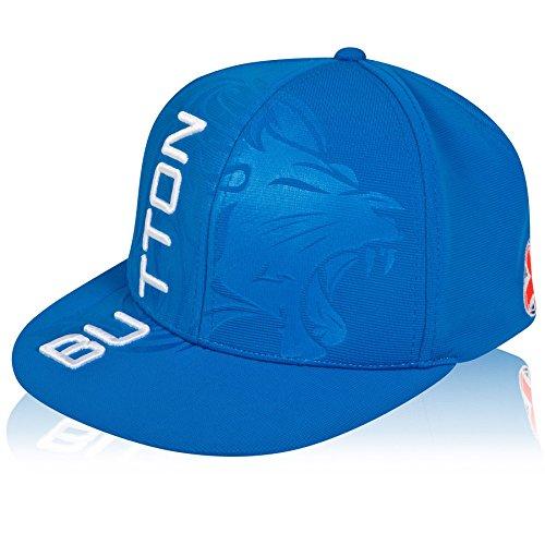McLaren F1 Jenson Button pour homme Flat Peak Casquette, hommes, Jenson Button Plat Peak Cap, Bleu