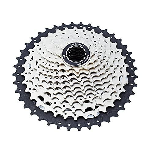 11 Índice de Velocidad 11-40T Cassette Freewheel-MTB Pieza de Bicicleta de Plata Sprocket, Adecuado para la Rueda Libre de Bicicleta Shimano/Cassette