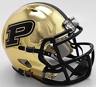 New Riddell Purdue Boilmakers Chrome Speed Mini Football Helmet