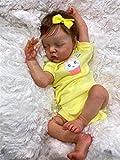 45 Cm Renacido Bebé Recién Nacido Muñeca Dulce Bebé Niña En Vestido Amarillo Táctil Suave Real Coleccionable Arte De Arte