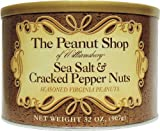 The Peanut Shop of Williamsburg Seasoned Virginia Peanuts, Sea Salt & Cracked Pepper, 32 Ounce