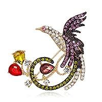 CHUNSHENN 動物鳥ブローチ、ナチュラルフェニックスブローチ、ファッションファッションアクセサリー ブローチ 高級感 レディース