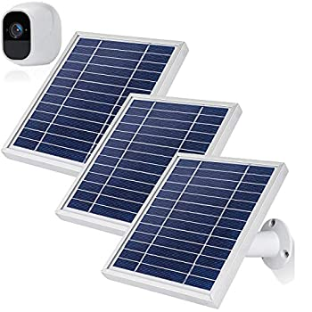 iTODOS 3 Pack Solar Panels Work for Arlo Pro 2 Camera 11.8Feet Power Cord and Adjustable Mount,NOT for Arlo Pro Silver