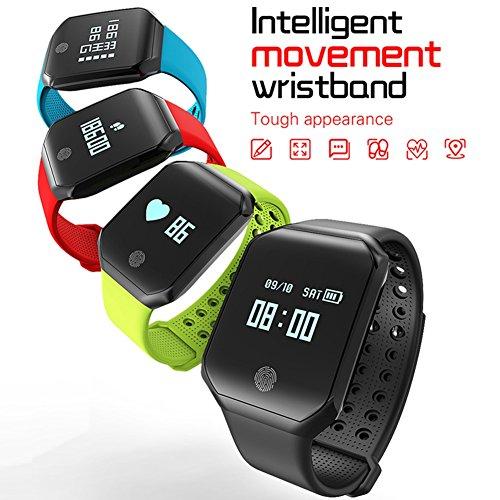 Fitness Tracker, cardiofrequenzimetro Tracker Smart braccialetto attività Tracker Bluetooth 4.2contapassi con monitoraggio sonno impermeabile IP67braccialetto fitness Smartwatch per Android iOS donne uomini bambini