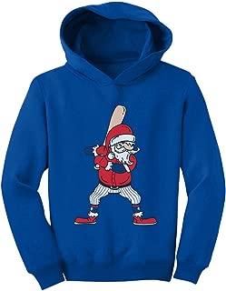 Tstars Ho Ho Home Run Santa Claus Baseball Player Christmas Toddler Hoodie
