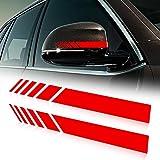 ZYHZJC Car Rearview Mirror Side Decal Stripe Vinyl for Kia Sportage Rio Forte Sorento Soul K2 K3 K4 K5 K9 Cadenza Grand Carnival