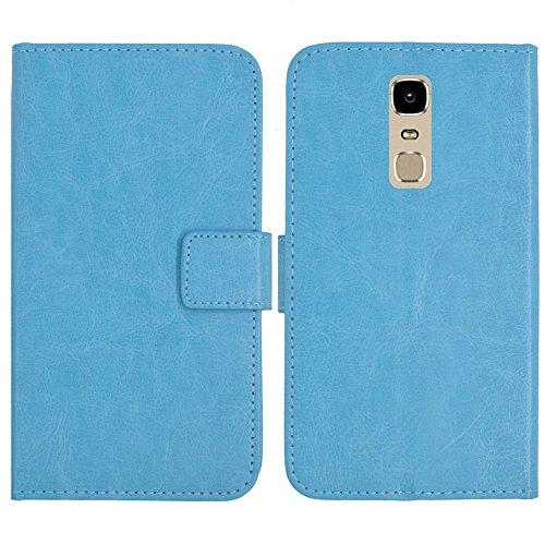TienJueShi Blau Flip Book-Style Brief Leder Tasche Schutz Hulle Handy Hülle Abdeckung Fall Wallet Cover Etui Skin Fur Phicomm Energy 3+ 5.5 inch