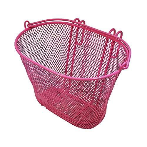 Red Loon Kinder Fahrradkorb pink Lenkerkorb Metall vorne Korb Kinder Fahrrad 20x18x10cm