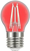 Lâmpada Led Filamento Color 4w Bolinha G45 Taschibra 10 Unidade - Vermelha