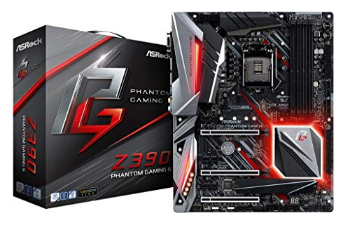 ASRock Z390 Phantom Gaming 6 Mainboard, Socket 1151, RGB-LED Motherboard, ATX, mattschwarz