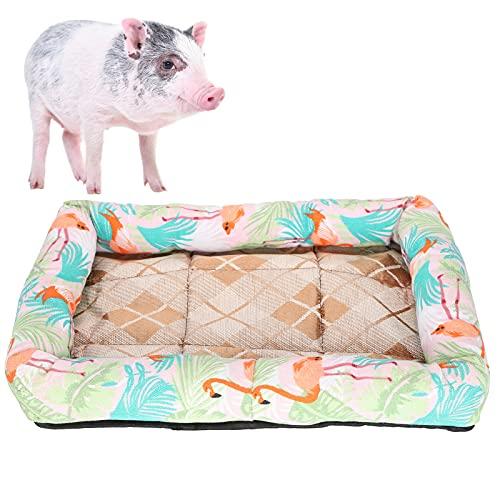 Eulbevoli Tapete para Mascotas, tapete para Dormir para Mascotas Proceso de Tejido Apretado y Fresco de Doble Cara para Todo Tipo de Mascotas para Todas Las Estaciones(Flamingo, XL)