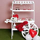 Regalosmiguel - carritos candy bar - carrito candy bar strawberry - blanco