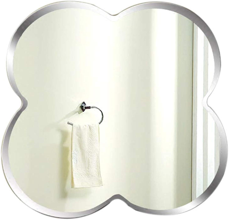 Bathroom Vanity Mirror, Frameless Simple Creative Wall Hanging Mirror - Decorative Glass Mirror - 59x59cm