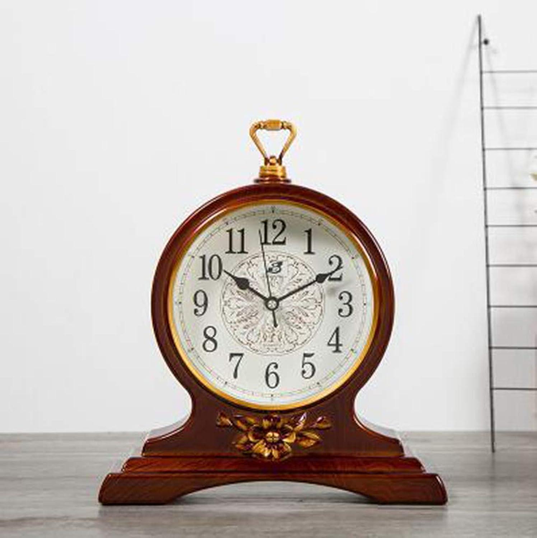 Mantel Clock, Retro Silent Non Ticking Plastic Numerals Classic Style Quartz Clock(Black (color   B)