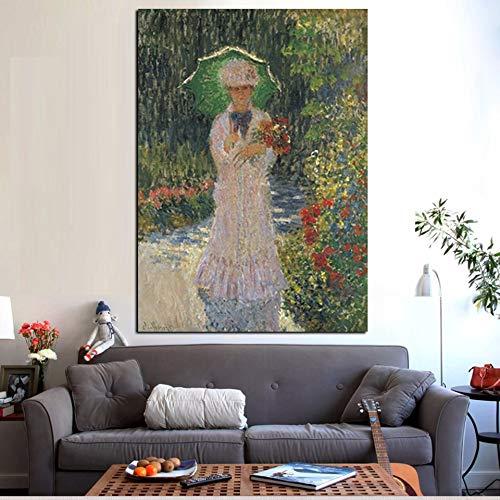 N / A Pop-Art Wandbild auf Leinwand mit Sonnenschirm Ölgemälde, rahmenlose dekorative Malerei im Wohnzimmer Sofa Wohnzimmer A42 60x90cm