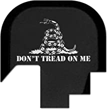 BASTION Laser Engraved Rear Cover Slide Back Plate for Smith & Wesson M&P 9/40 Shield ONLY - Don't Tread On Me