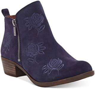 Women's Basel Embroidery Booties Moroccan Blue Size 5M