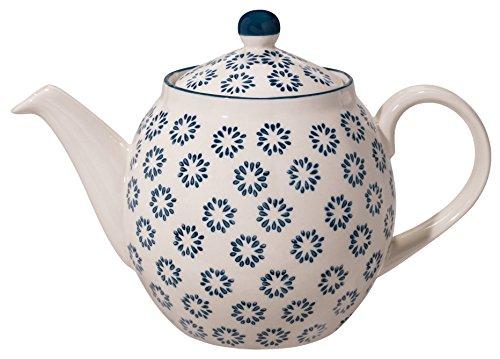 Bloomingville Teekanne Kristina, saphirblau, Keramik