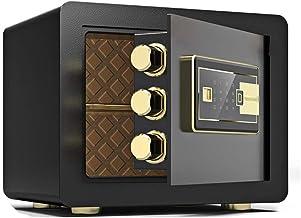 JBAMQ Digital Security Safe Box, Cabinets Fingerprint Wall Safe Lock Box Cash Strongbox with Number Keys Emergency Lock (C...