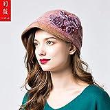 LIUXINDA-ZZM Hut-Wollmütze des Hut- und Winterkappen-Malerhutes der Damen Hut und Winterhut der niedlichen Hut der Frauen niedlich, justierbar, Rosa