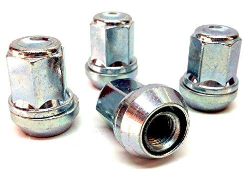 Lot de 4 écrous de roue en alliage Wobbly Variable PCD 4x98 - 4x100 zingués M12x1.25 (M12x1.25) assise conique 19mm hexagonal