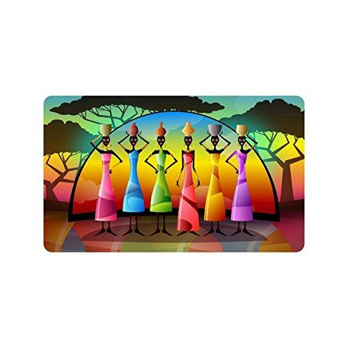 African Women Doormat Mujer Africana Felpudo–Felpudo