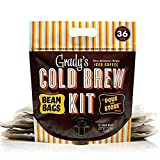 Grady's New Orleans-Style Decaf Cold Brew Coffee Kit | Each Bean Bag Brews 3 Servings | Coffee, Chicory & Spices | Bold & Velvety-Smooth | Includes 12 Two-Ounce Bean Bags + Pour-and-Store Pouch | 1.5 Pound