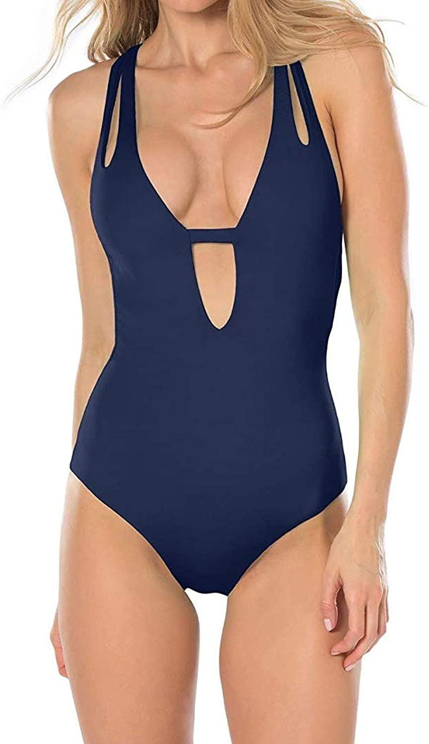 Becca by Rebecca Virtue Women's color Code One Piece Plunge Swimsuit