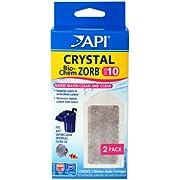 API CRYSTAL BIO-CHEM ZORB SIZE 10 Aquarium Filtration Media Cartridges for API SUPERCLEAN 10 2-Count Box