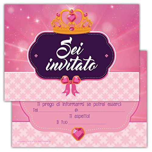 Partycards Set di 12 inviti Compleanno Biglietti invito per Festa...