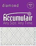 Accumulair Diamond 14x20x1 (13.75 x 19.75) MERV 13 Air Filter/Furnace Filters (6 Pack)