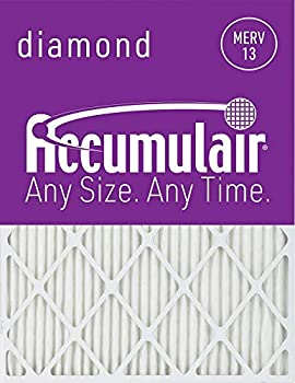 Accumulair Diamond 24x36x1  Actual Size  MERV 13 Air Filter/Furnace Filters  2 Pack