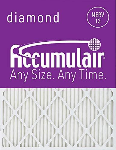 Accumulair Diamond 16x20x2 (15.5x19.5x1.75) MERV 13 Air Filter/Furnace Filters (2 Pack)