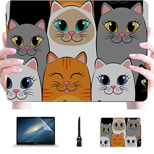 Macbook 15 Cover Animal Cute Funny Colorful Cat Breed Plastic Hard Shell Compatible Mac Air 13' Pro 13'/16' Cover Macbook Air 13 Protective Cover For Macbook 2016-2020 Version