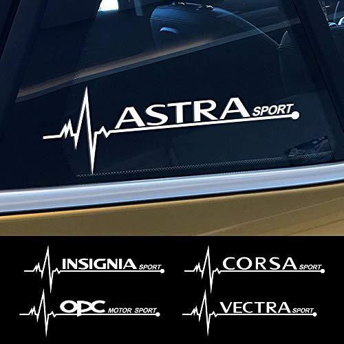FSXTLLL Coche Ventana Pegatina, para Opel OPC Astra J H G K Insignia Corsa D B E Mokka Vectra B