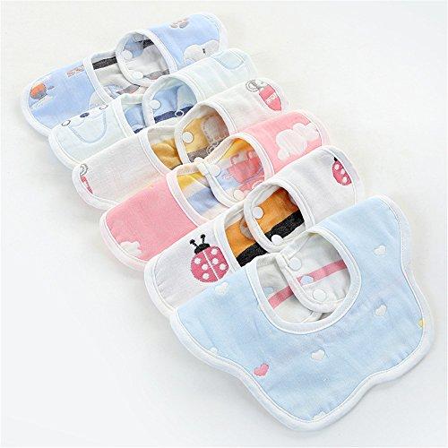 Bavaglino impermeabile Saliva Saliva Baby Saliva Asciugamano Rotante 360 Gradi Di Cotone Garza Neonato Anti Spit Latte