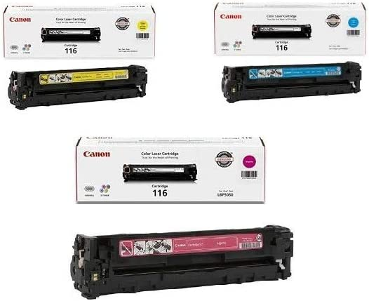 Canon 116 Combo Pack Of 3 Color Toners Manufactured By Canon (1 of C, Y, M) for ImageClass MF8050cn