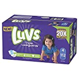 Luvs Luvs Triple leakguards Diapers Size 4 112 Count, 112 Count