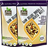 Raw Unsalted Deluxe Omega 3 Mixed Nuts (Almonds, Brazil Nuts, Cashews, Hazelnuts and Walnuts) - All-Natural Non-GMO No Added Salt or Fat - 2 Pack (2x 20 oz)