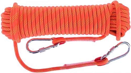KTYXDE Corde d'escalade Corde de Travail aérienne Corde en Nylon Diamètre de Corde d'évacuation 10 12 14 16 1   20mm Longueur 10 15 20 30 Orange Corde d'escalade (Taille   10mm 15m)