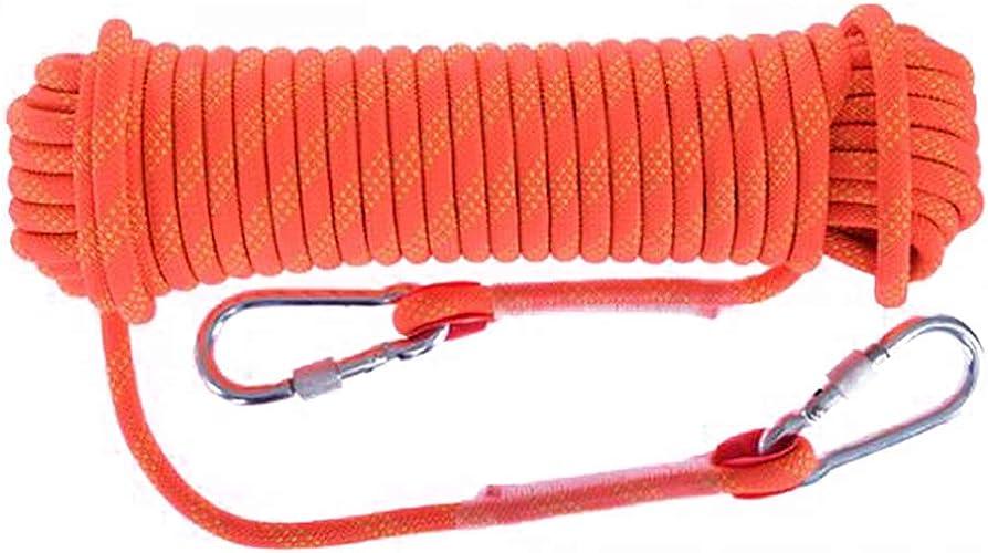 QARYYQ Corde d'escalade Corde de Travail aérienne Corde en Nylon Diamètre de Corde d'évacuation 10 12 14 16 1   20mm Longueur 10 15 20 30 Orange Cordes (Taille   14mm 15m)