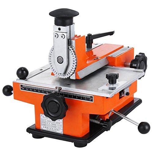 BestEquip Semi-Automatic Metal Stamping Printer Sheet Embosser Metal Embosser Label Marking MachineSuitable for Copper Aluminum Stainless Steel and Plastic