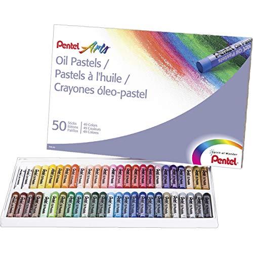 Pentel Oil Pastels 50/Pkg-
