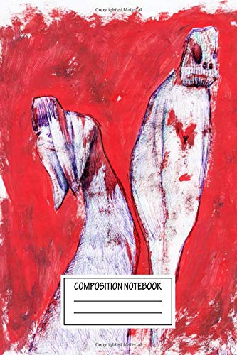 Composition Notebook: Paintings Monster's Heart In The Dark Shadow Of The Theatr Wide Ruled Note Book, Diary, Planner, Journal for Writing