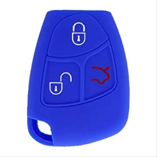 SpringPear Blue Protect Cover for Mercedes Benz 2-3 Buttons Key Silicone Case Protector
